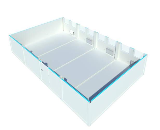 Algeco Raumcontainer Vierfachanlage
