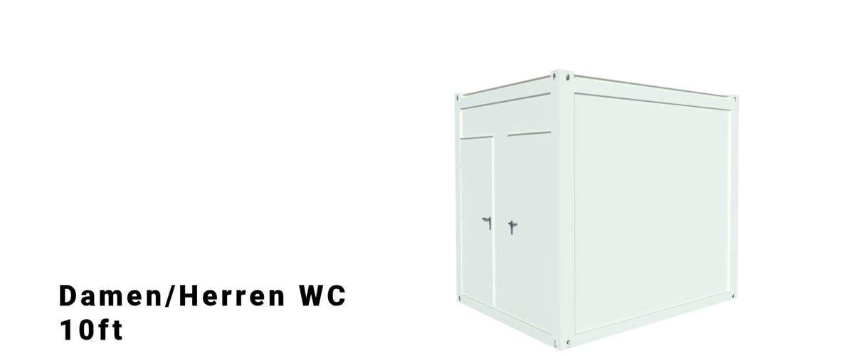 Algeco 10ft Damen/Herren WC Container