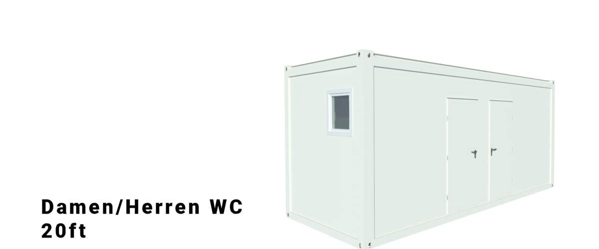 Algeco 20ft Damen/Herren WC Container