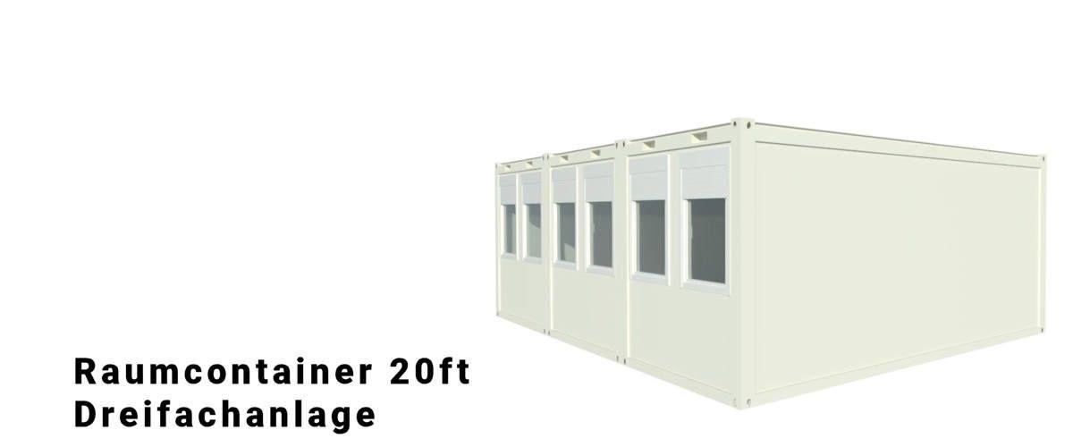 Algeco Raumcontainer Dreifachanlage
