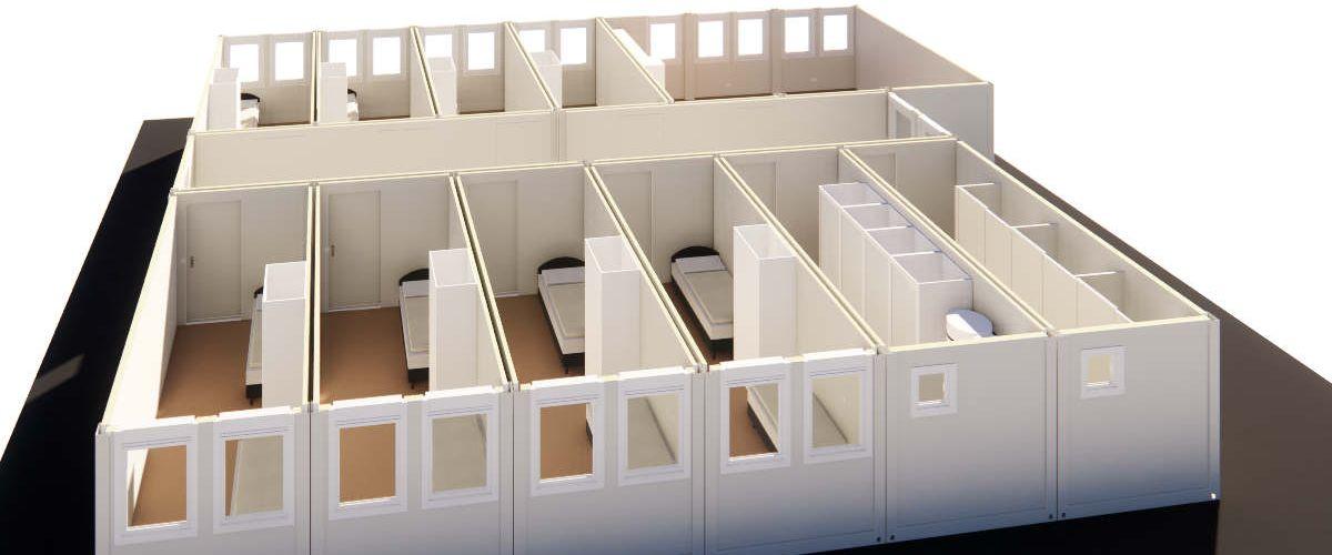Algeco Wohnlager Horizontalschnitt