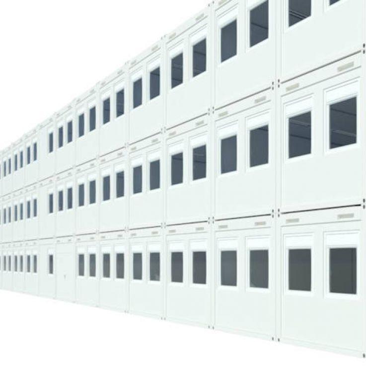 Algeco Raumcontainer Containergebäude dreigeschossig