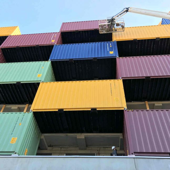 Algeco Seecontainer Projekt Graz