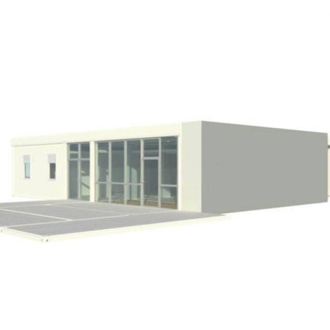 Algeco Raumcontainer Containergebäude Golfclub