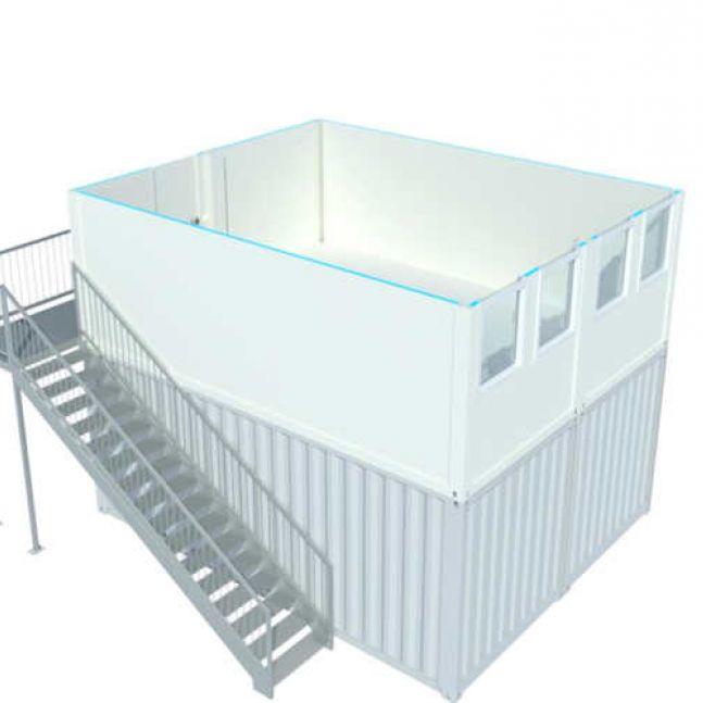 Algeco Raumcontainer Doppelanlage Seecontainer