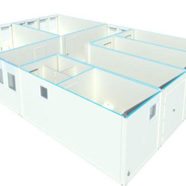 Algeco Raumcontainer Sanitärcontainer Anlage