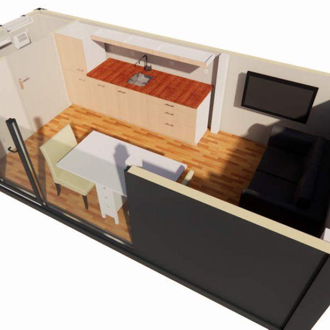 Algeco Schnitt Tiny House