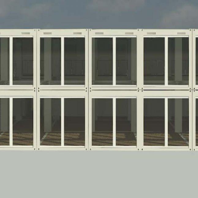 Containerschule Ansicht Algeco