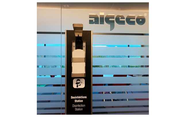 Algeco Desinfektionsstation